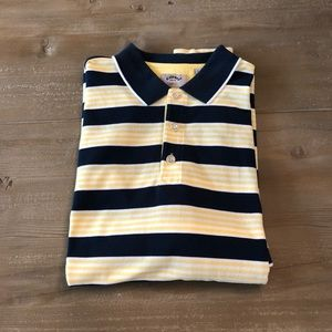Callaway Golf Navy/Yellow Striped Polo - Size L